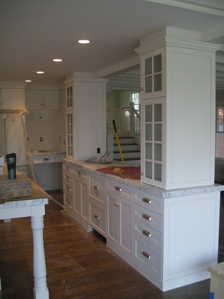 Kitchen Remodel Island With Supporting Beams
