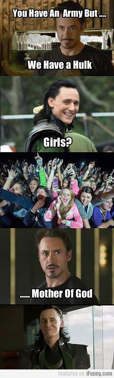Although I'm pretty sure Robert would have a fangirl army of the same size . . . Or even bigger . .