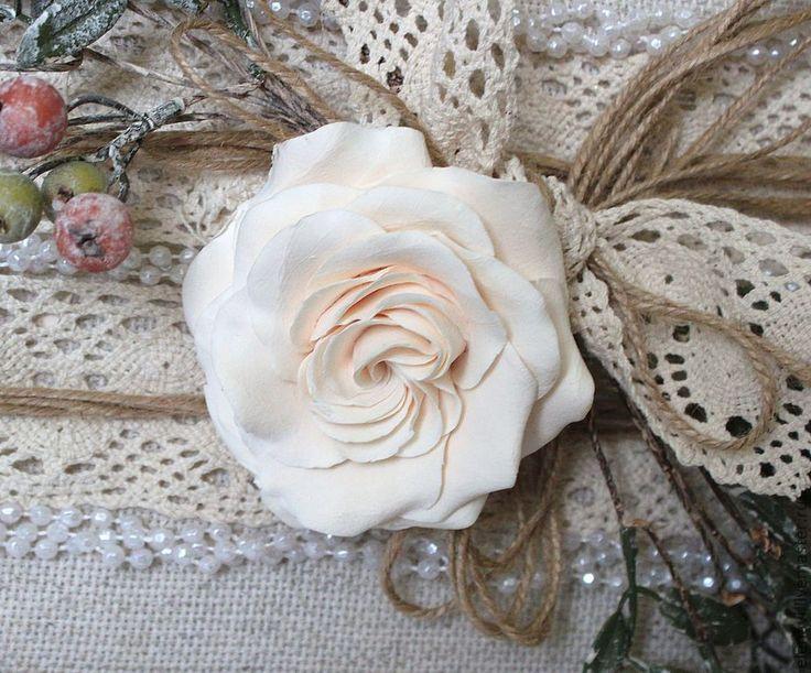 """Купить """"Зимний винтаж"""" - картина в подарок, картина для интерьера, цветы ручной работы"""