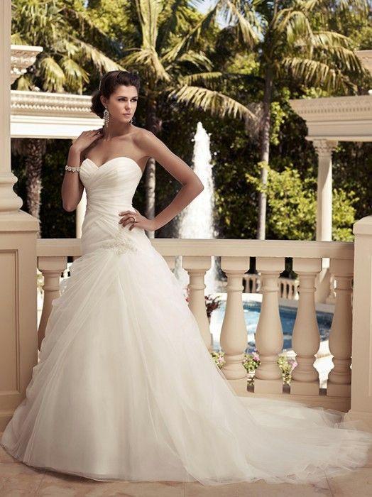 Casablanca wedding dress, $1,235.00.