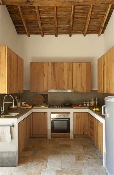 modern stainless with natural wood & white  RELAX TRA Tuscania, Italy - 2007 - Claudia Pelizzari Interior Design