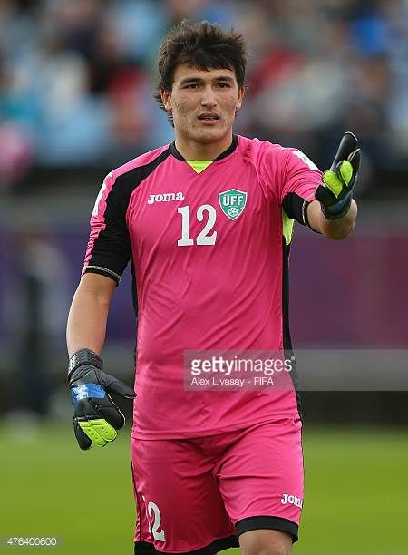 Dilshod Khamraev of Uzbekistan during the FIFA U20 World Cup Group F match between Fiji and Uzbekistan at the Northland Events Centre on June 7 2015...