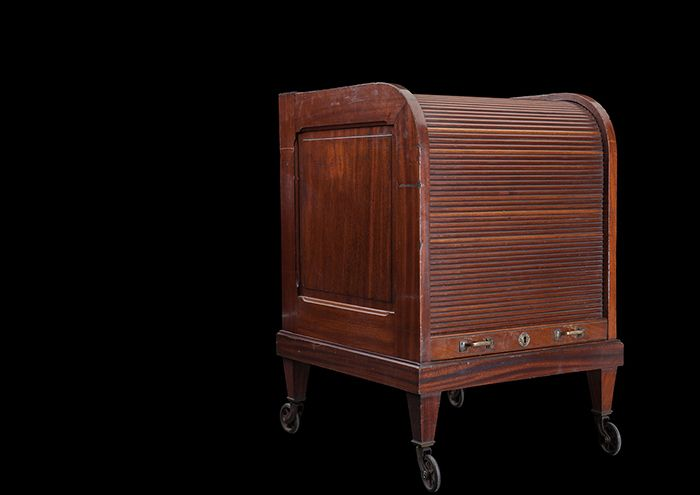 rolltop mahogany 1940 storage