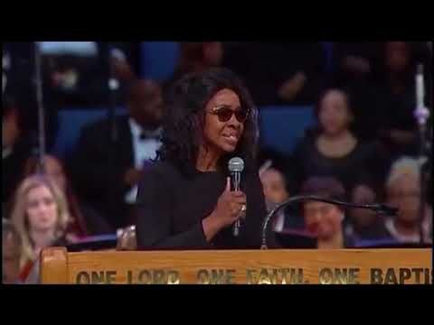 Gladys Knight At Aretha Franklin Funeral You Ll Never Walk Alone