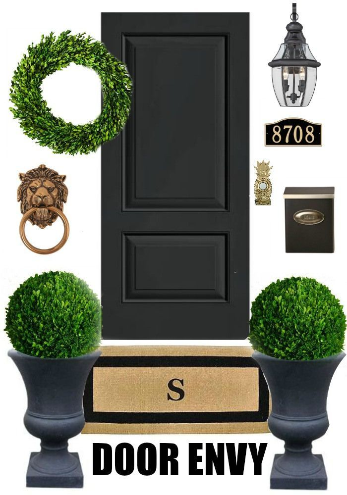 Add some major curb appeal to your front door entrance with these fab ideas via Bliss at Home