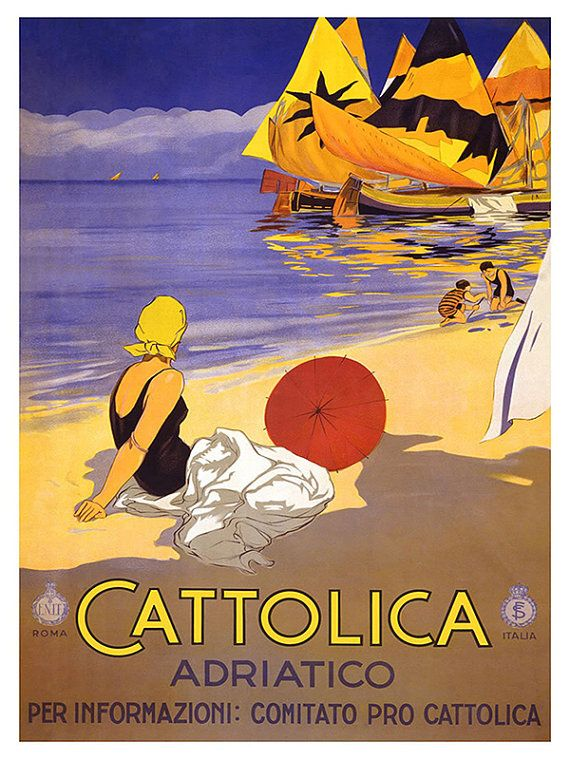 Italië reizen Poster Italiaanse Art Print Retro door Blivingstons