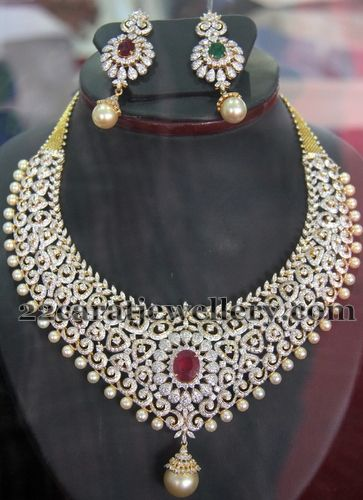 Bridal Set with Changeable Stones | Jewellery Designs
