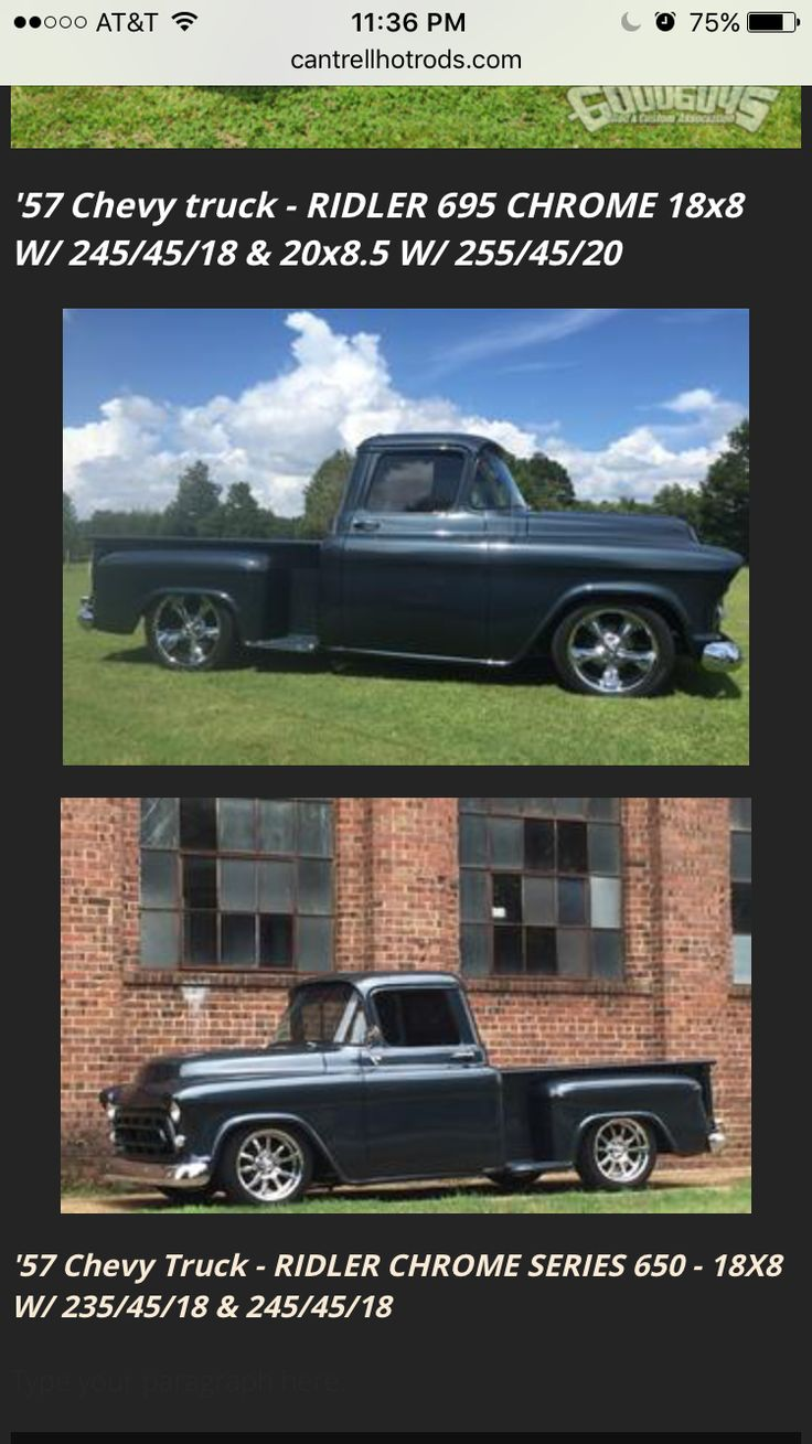 1955 chevrolet stepside 3100 v8 auto air street rod classic - Ridler 695 Vs Ridler 650 Call Or Text Me For Your Set Of Hot Rod Wheels
