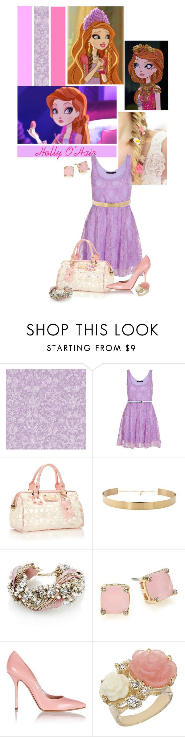 """""""Holly O'hair"""" by srta-sr ❤ liked on Polyvore featuring York Wallcoverings, Miso, Floozie by Frost French, Monsoon, Lauren Ralph Lauren, Casadei, Miss Selfridge, women's clothing, women and female"""