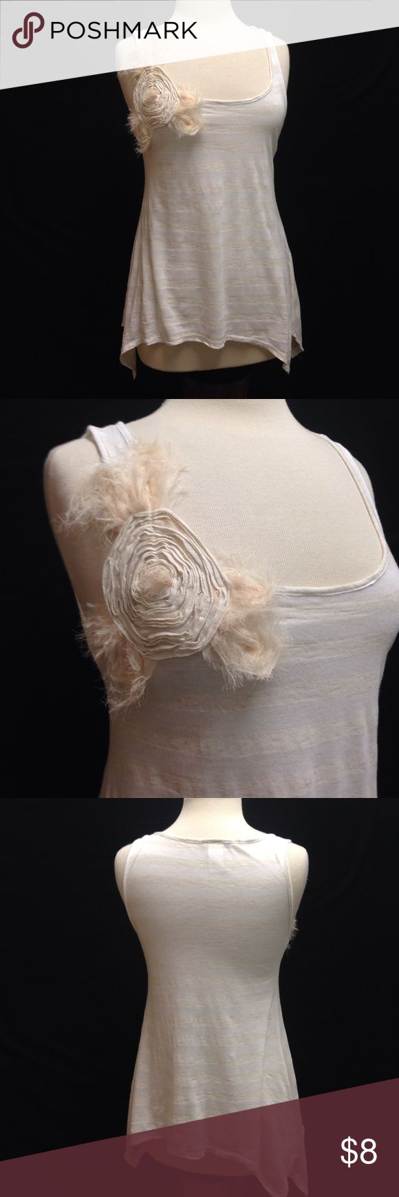 "Mon Ame Sheer Boutique Style Tank Bust 34"" Length 26"" Material stretches. This top is in excellent used condition. There are no rips stains or tears. Minimal signs of wear. Mon Ame Tops Tank Tops"