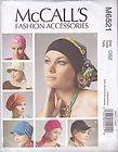 NEW PATTERN Hats Head Wraps Headbands XS 20 1/2-L 23 1/2 McCall's M6521 Chemo - 1/2L, Chemo, hats, head, headbands, M6521, McCall's, pattern, Wraps