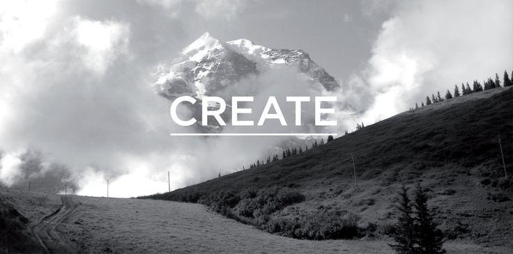 Create intro on the Fletcher Creative website. #Logo #Branding #Icon #Identity #Typography #website #layout #mountains #nature #environment #switzerland #design #creative #designstudio