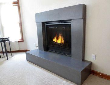 concrete fireplace - Google Search