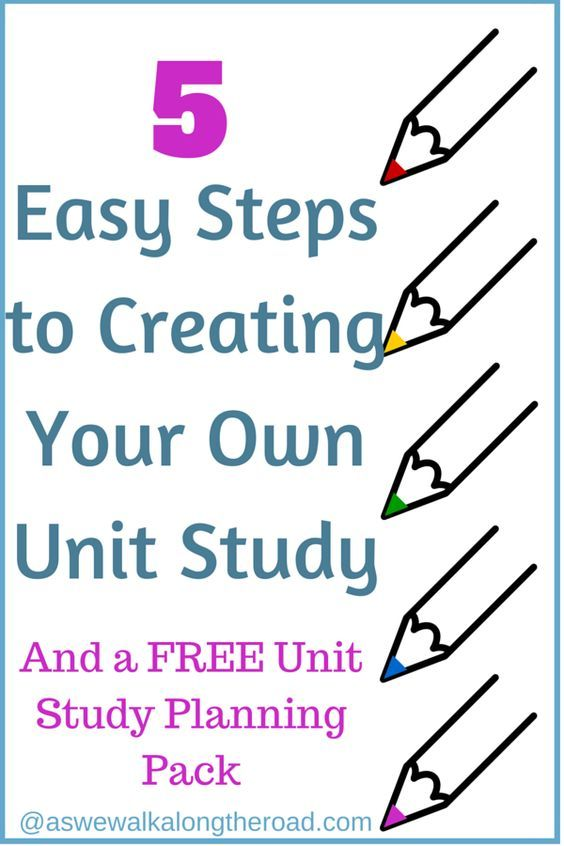 Unit studies are a fun way to learn. If you've been intimated about creating your own unit study, read these five easy steps and pick up your FREE printable planner.