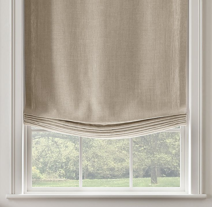 Best 25 relaxed roman shade ideas on pinterest roman for Linen shades window treatments