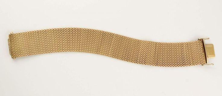 Armband, 750 GG, Flechtdekor, L = 17,5 cm, ca. 59,4 g, Gebrauchsspuren