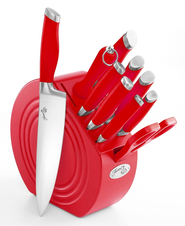 Fiesta Cutlery, 11 Piece Set With Wood Block   I Might Be A Little Obsessed