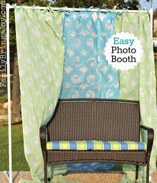 Easy Photo Booth made with pvc pipe. Great for parties!