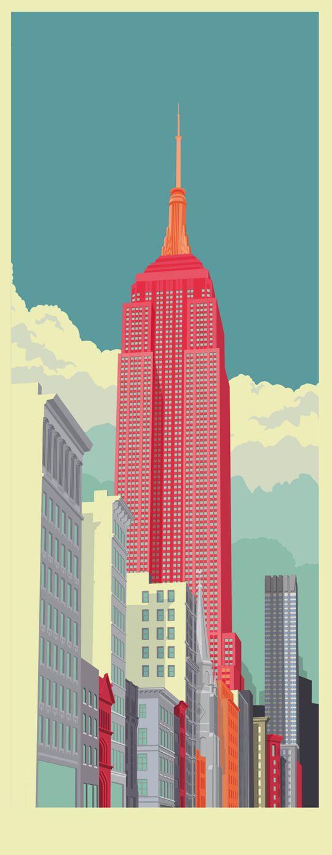 Vektorové ilustrace New Yorku
