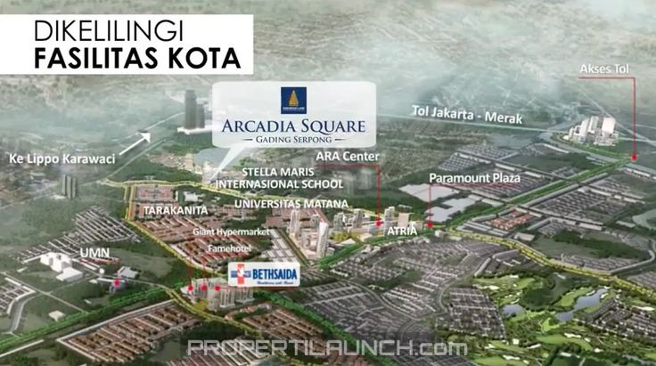 Fasilitas sekitar Arcadia Square Gading Serpong.