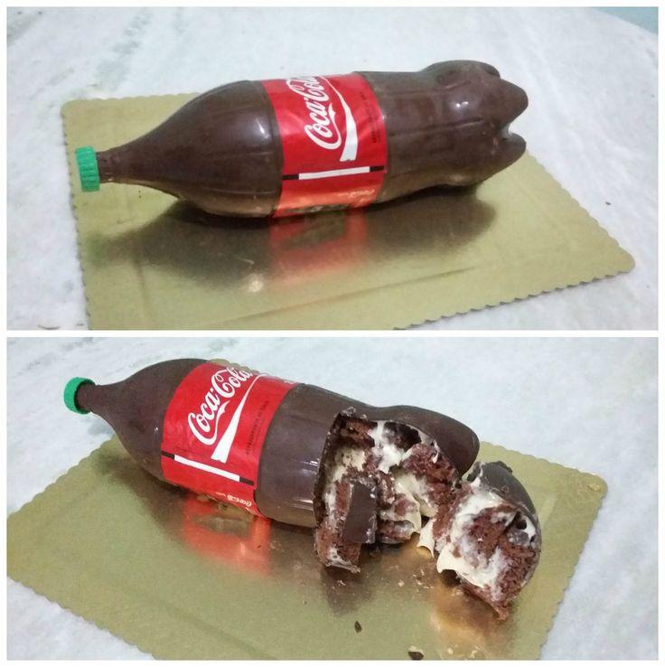 Bolo garrafa de Coca-Cola, bolo bombom. Como fazer?!