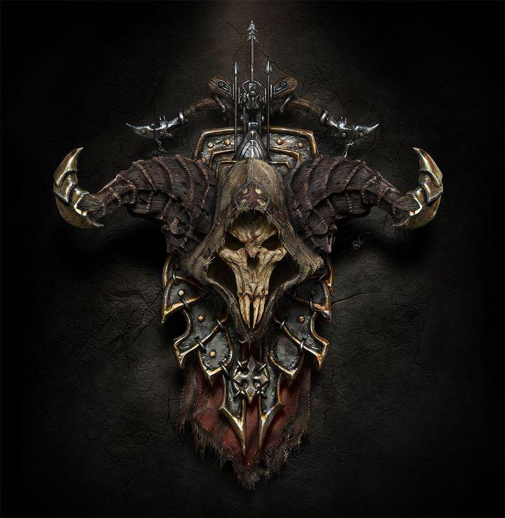 Demon Hunter Escudo Fantasía Símbolo por Ricardo Luiz Mariano