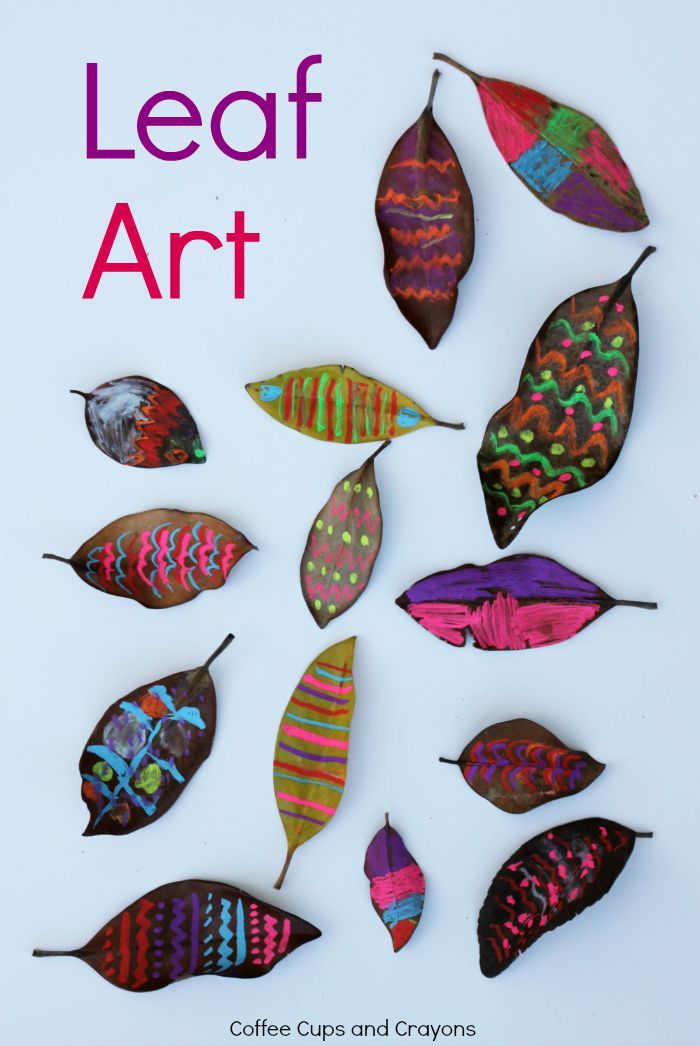 Leaf Chalk Art Activity! Hang these in your windows!
