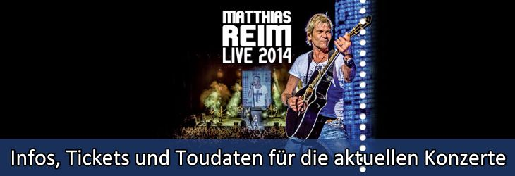 Mit Tickets für Matthias Reim kannst Du Dich schon jetzt auf seine neuen Konzerte freuen: Schließlich wird Matthias Reim bei seiner kommenden Konzert-Tour sein neues Musik-Album live präsentieren. Wer den Musiker kennt, der weiß, dass er es breits jetzt kaum abwarten kann, die neuen Songs auf die Show-Bühne zu bringen: Denn dort ist seine eigentlic...