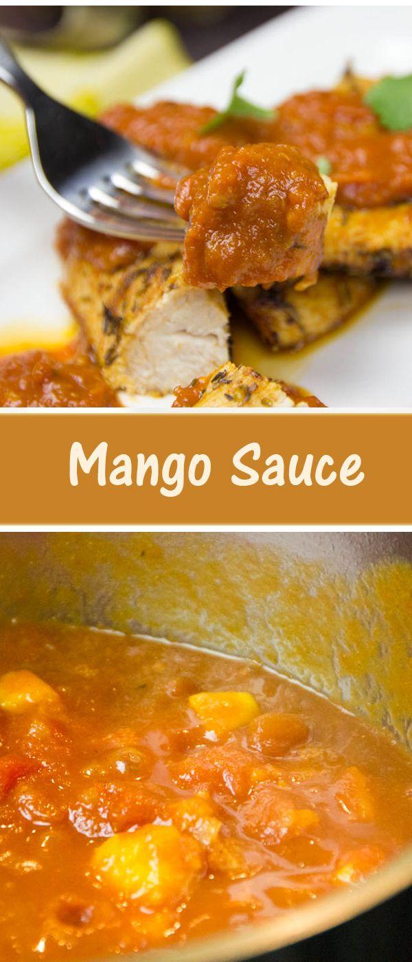 Karibische Mangosauce, exotisch, lecker und fruchtig