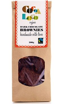Cocoa Loco Dark Chocolate Brownies