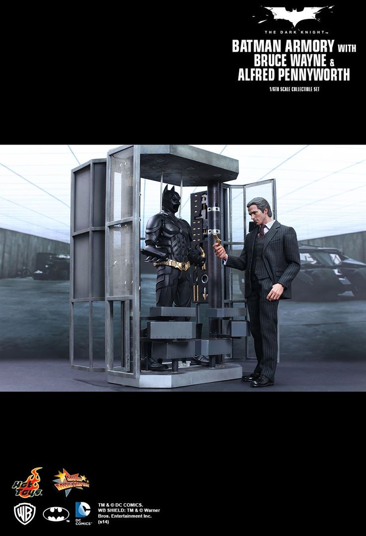 Hot Toys : The Dark Knight - Batman Armory with Bruce Wayne and Alfred Pennyworth 1/6th scale Collectible Set