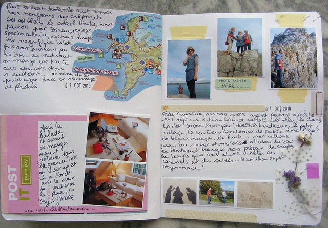 What a great example of handwritten entries with photos and found items. You could do this in your Anything Book. #anythingbook