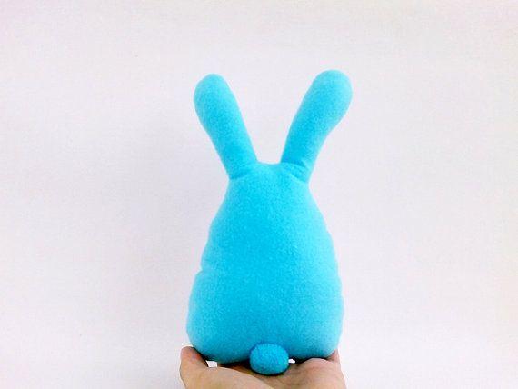Easter Bunny Easter Decor Easter Rabbit Blue от dancingintherains