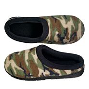 •Great gift idea for a couple you know •Microfleece with memory foam insole and rubber tread sole. •Men's green camouflage sizes 7, 8, 9, 10, 11, 12 •Women's pink camouflage sizes 5, 6, 7, 8, 9, 10