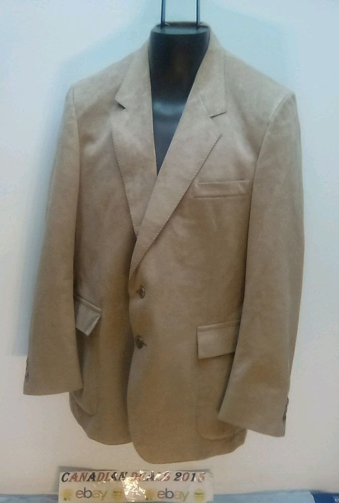 HARRY ROSEN Sport Coat Jacket Blazer Supra suede 44 Reg MADE IN ITALY 2 Button #HARRYROSEN #TwoButton