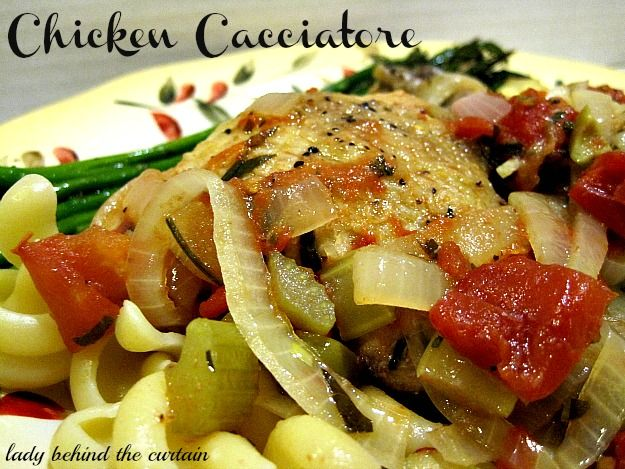 Lady Behind The Curtain - Chicken Cacciatore - this has an unusual twist - olives.