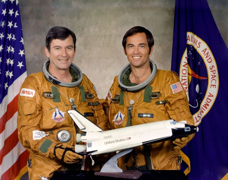 STS-1 crew: John Young and Robert Crippen.