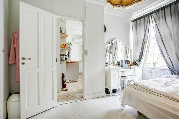 Дизайн интерьера квартиры 56 кв. м. в старом районе Копенгагена