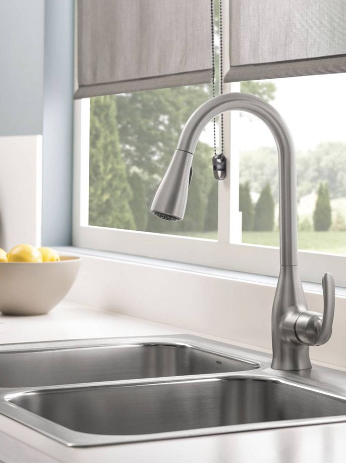 This Kelsa faucet and sink are sold together and can be installed without hassle—making them perfect for your next kitchen remodel.