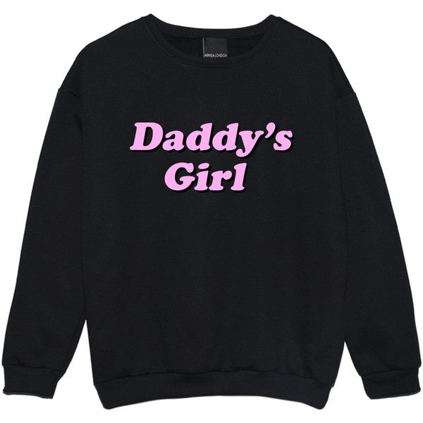 Daddy Girl Sweater Jumper Funny Fun Tumblr Hipster Swag Grunge Kale... ($23) ❤ liked on Polyvore featuring tops, sweaters, jumpers sweaters, goth sweater, pastel goth tops, star print sweater and gothic sweaters