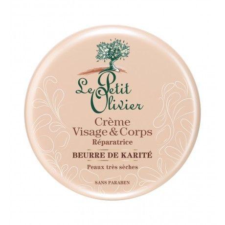 #Crème #Visage & #Corps Réparatrice Beurre de #Karité - Peaux Très Sèches
