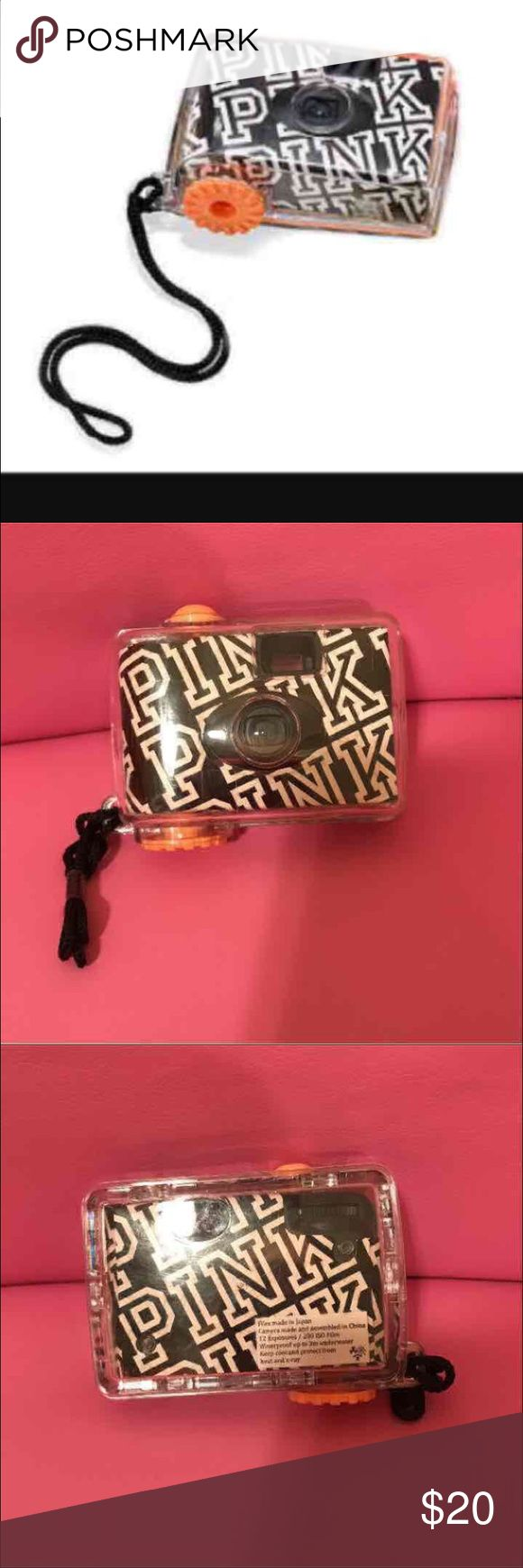 VICTORIAS SECRET WATERPROOF CAMERA **VICTORIAS SECRET DISPOSABLE WATERPROOF CAMERA** -PINK NATION camera💗NO TRADES💗 -brand new -never used -waterproof up to 3M -12 exposure  -super cute -limited edition -comes from a pet free and smoke free home PINK Victoria's Secret Other