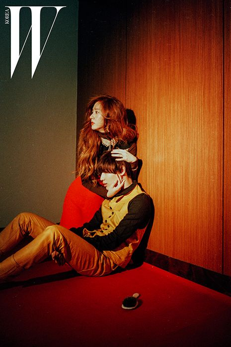 SHINee's Taemin, EXO's Kai and f(x)'s Krystal in W Korea Magazine August 2015 Photoshoot Fashion