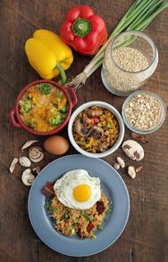 Savory side of oats: Oatmeal and Soft-Cooked Egg, Broccoli-Cheddar ...