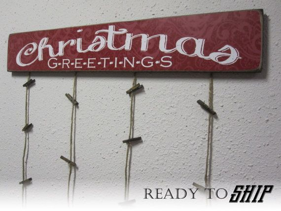 Merry Mail  Merry Mail Card holder  Christmas Card by BornOnBonn