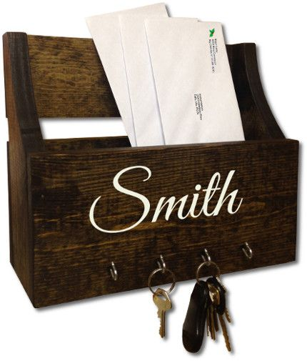 25 best ideas about mail and key holder on pinterest mail center mail holder and key holders - Wooden letter and key holder ...