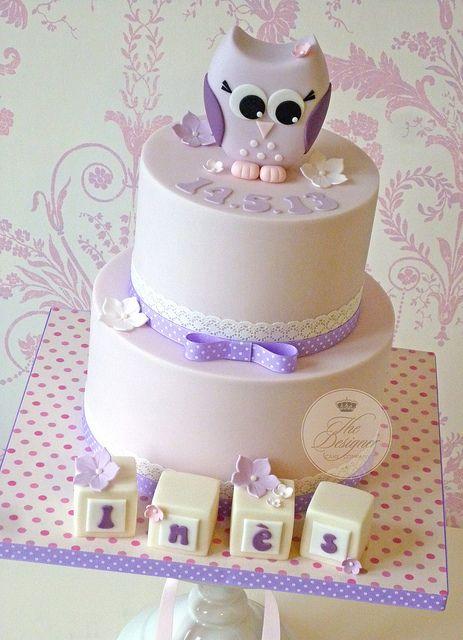 Owl christening cake | Flickr - Photo Sharing!