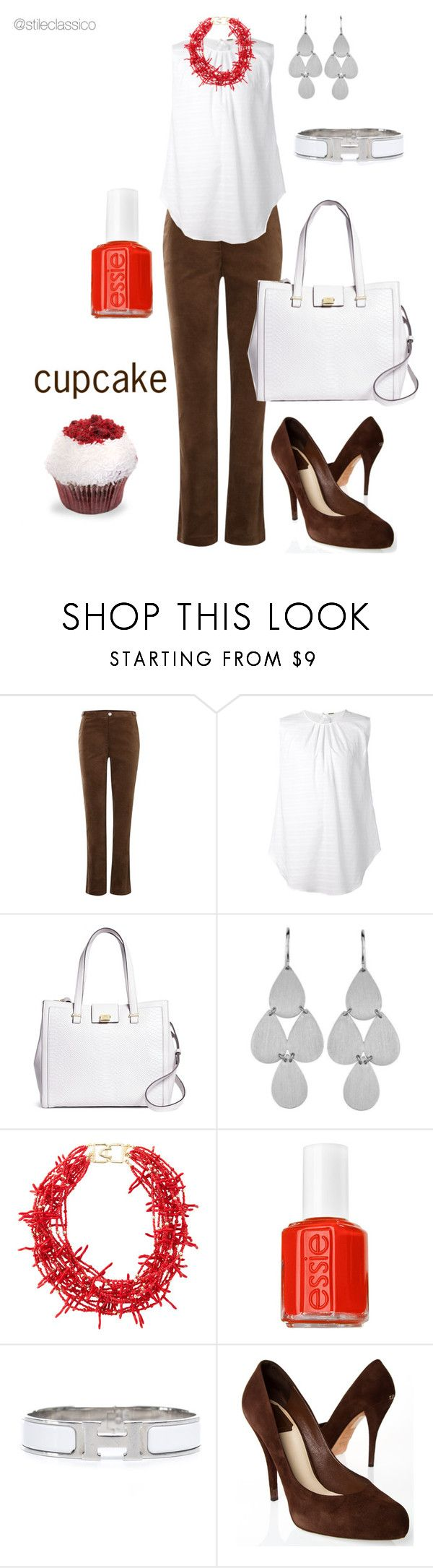 """""""Cupcake"""" by stileclassico ❤ liked on Polyvore featuring Tulchan, ADAM, Brooks Brothers, Kenneth Jay Lane, Essie, Hermès, Christian Dior, contest and cupcake"""