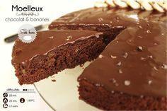 moelleux chocolat léger (beurre remplacé par de la banane)