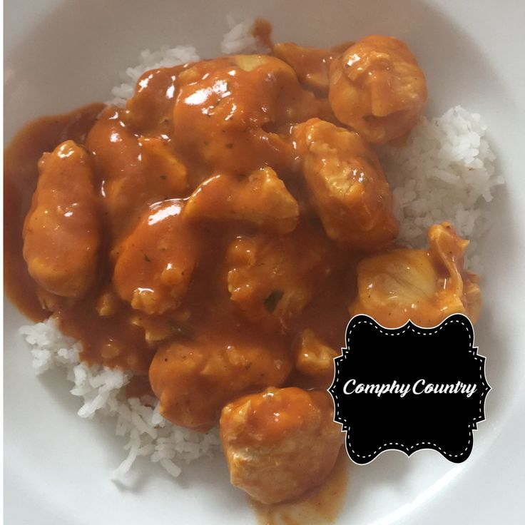 Slow Cooker Butter Chicken 21 day fix approved 4 servings Dry Ingredients 2½- 3 lbs. boneless skinless chicken, cut into 2″ pieces 1 onion diced 3 cloves garlic, chopped 2 tsp curry 2 tsp gar…